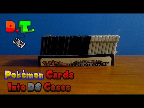 How To Turn A Pokémon Card Into a Nintendo DS Game Case