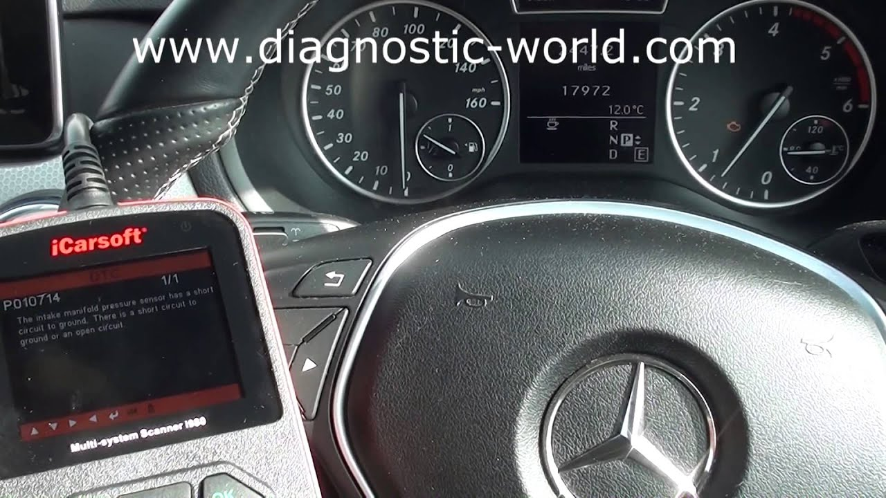 Mercedes benz b class w246 map sensor fault reset p010714 for Mercedes benz ml350 check engine light on