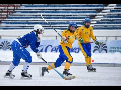 Sweden - Finland, 24.02.17, Girls Bandy World Championship U-17, Irkutsk, Russia