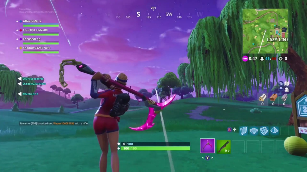 Fortnite Hit a Golf Ball From Tee To Green Challenge ALL 9 HOLES (week 5 season 5)