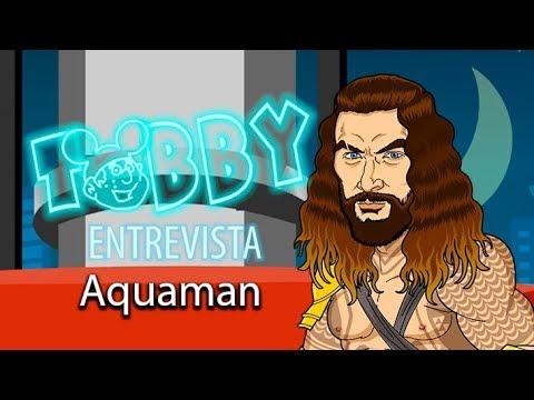 Aquaman fala de sua vida molhada no sofá do Tobby!