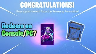 Is the Galaxy Skin GIFT BOX Redeemable on Console/PC?? (Fortnite Battle Royale)