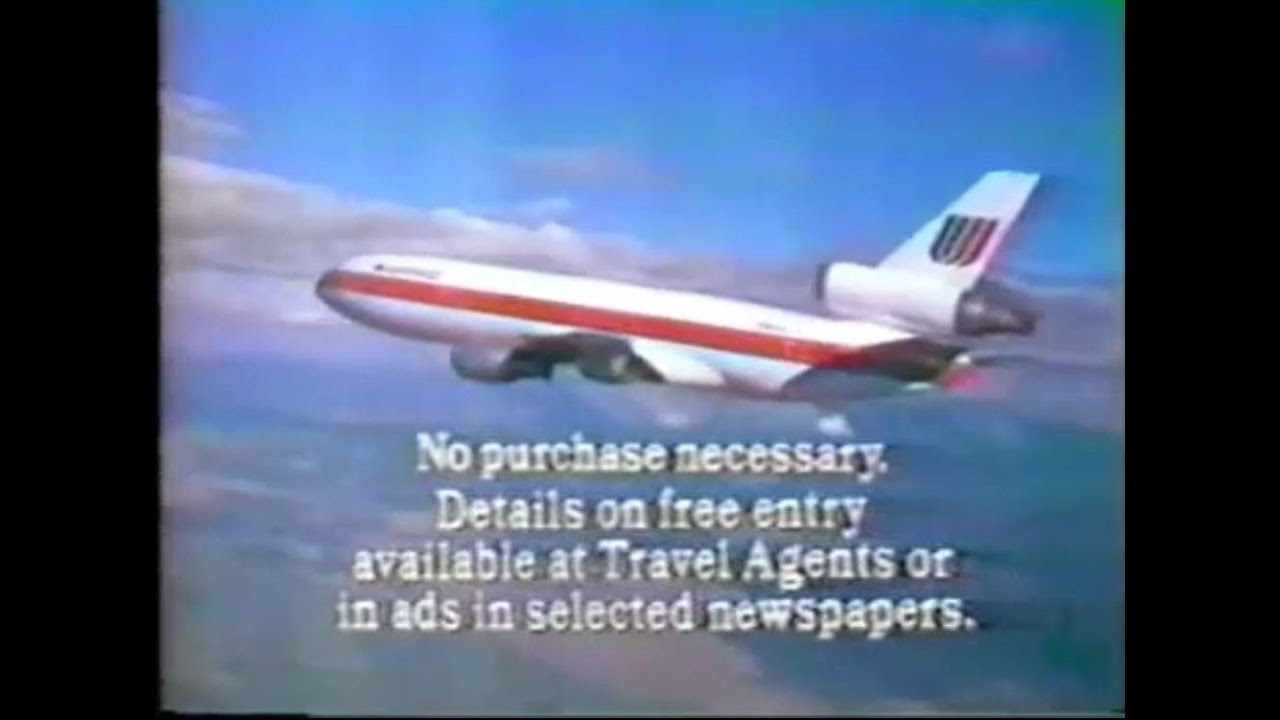 1980 United Airlines Contest Commercial