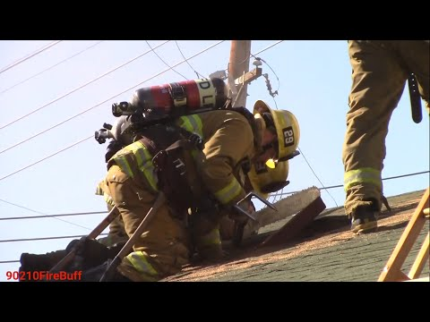 LAFD on Scene of a House Fire in West LA