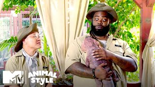 Tim & Darren Meet A Sleepy Sloth & the Cuddliest Lizard Ever! | MTV's Animal Style