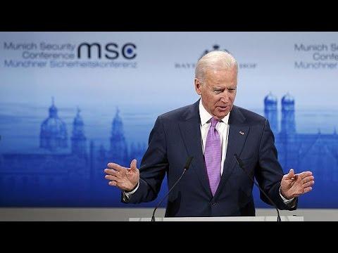 "US Vice President Joe Biden says Russian President Vladimir Putin has "" simple stark choice""."