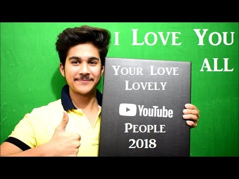 Thank You Guys For Your Love Silver Play Button😘