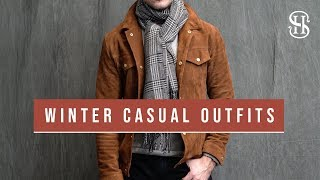 3 Casual Winter Outfits   Men's Fashion Winter Lookbook 2018