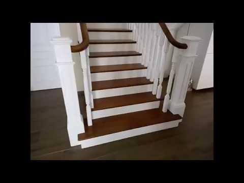 Лестница в частном доме. Американский стиль.