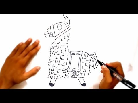 how to draw loot llama fortnite - lame din fortnite