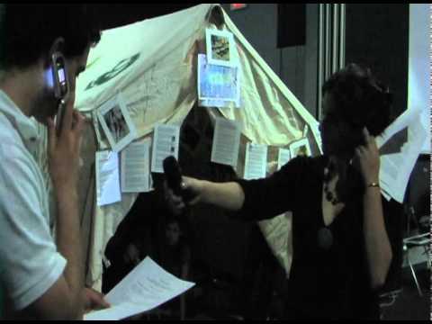 Student Presentation at Camp Darfur