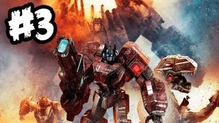 Transformers Fall of Cybertron - Gameplay Walkthrough - Part 3 - WOLVERINE BOTS!! (Xbox 360/PS3/PC)