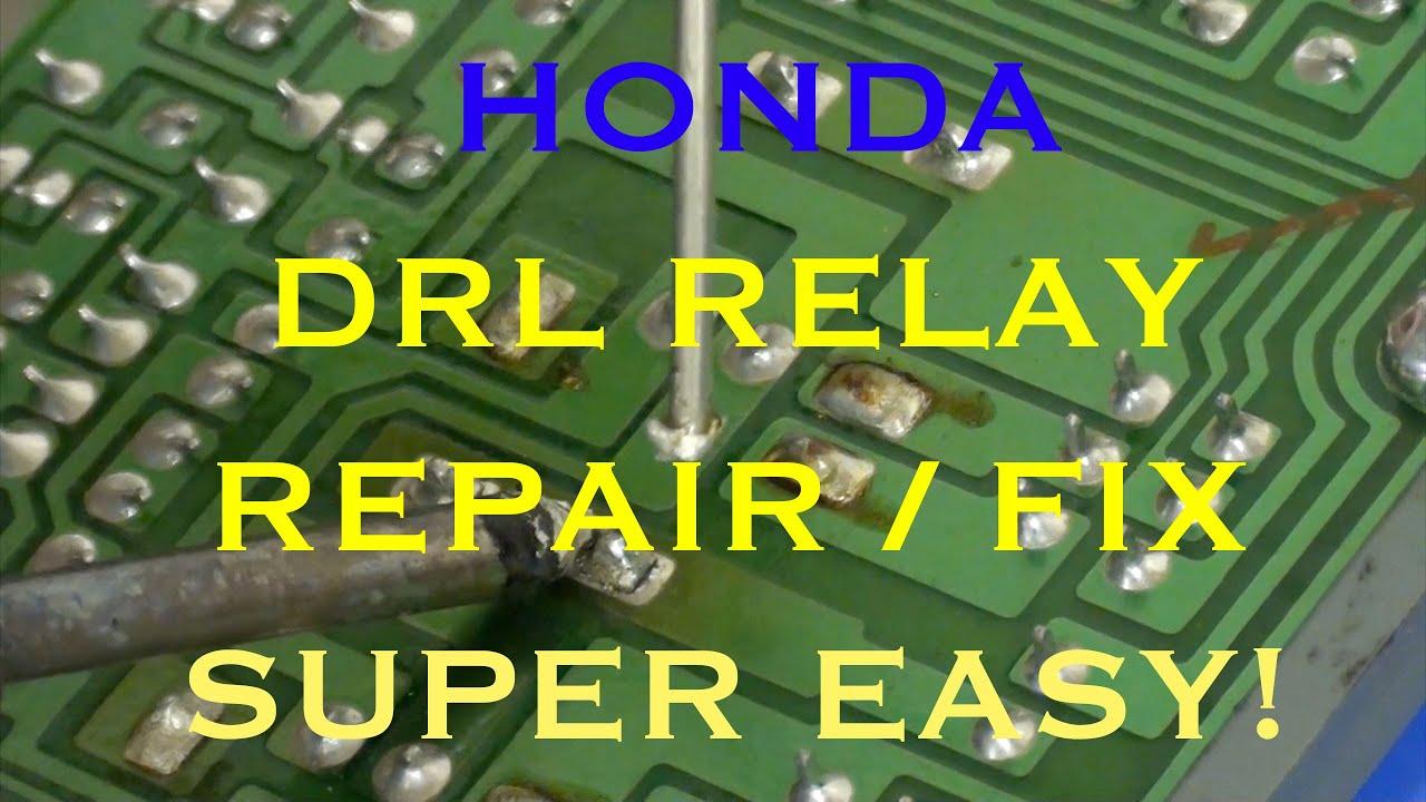 1990 Honda Accord Wiring Diagram 2013 Passat Tdi Fuse Drl Relay Repair - Day Time Running Lights Youtube