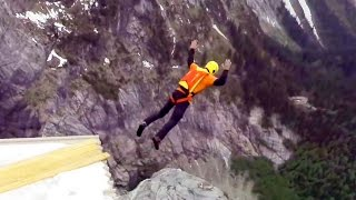 Incredible Mountain Shelter BASE Jump | 4 Swiss BASE Jumps