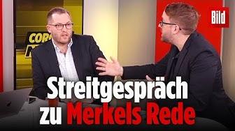 Hier fetzen sich der BILD-Chef und sein Vize über die Merkel-Rede | Julian Reichelt, Paul Ronzheimer