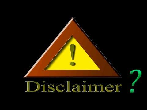 Что такое дисклеймер?