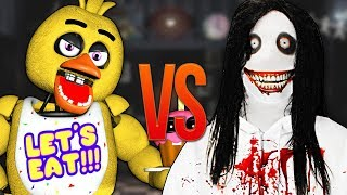 ЧИКА FNAF VS ДЖЕФФ УБИЙЦА | СУПЕР РЭП БИТВА | Chica Five Nights At Freddy's ПРОТИВ Jeff The Killer