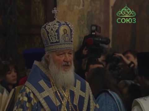 Божественная литургия. Прямая трансляция из Благовещенского собора Московского Кремля. 07.04.2016