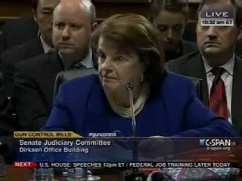 AMERICA, This Is Dianne Feinstein, TURN IN YOUR GUNS NOW!