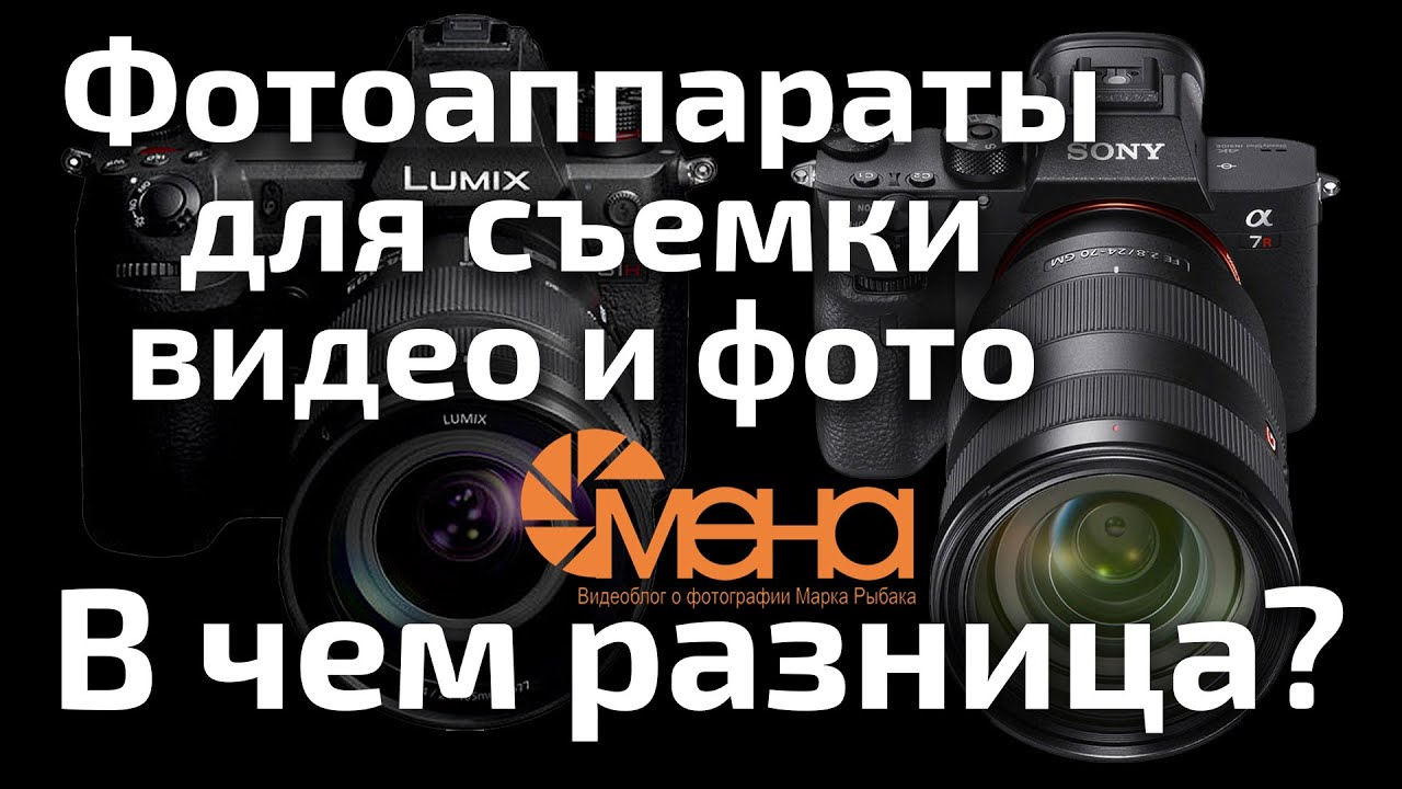 Фотоаппараты для съемки фото и видео. В чем разница?