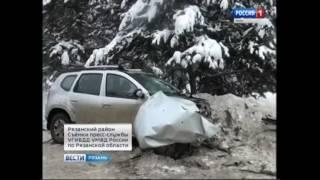 Видео с места ДТП под Рязанью