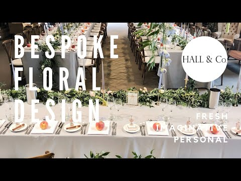 Wedding Planning with Hall & Co: Bespoke Floral Design for Weddings & Events, Cambridgeshire UK.