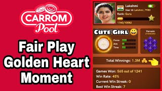 Fairplay Golden 💛 Heart Moment || Unbelievable Insane Gameplay  || Carrom pool Rowdyy