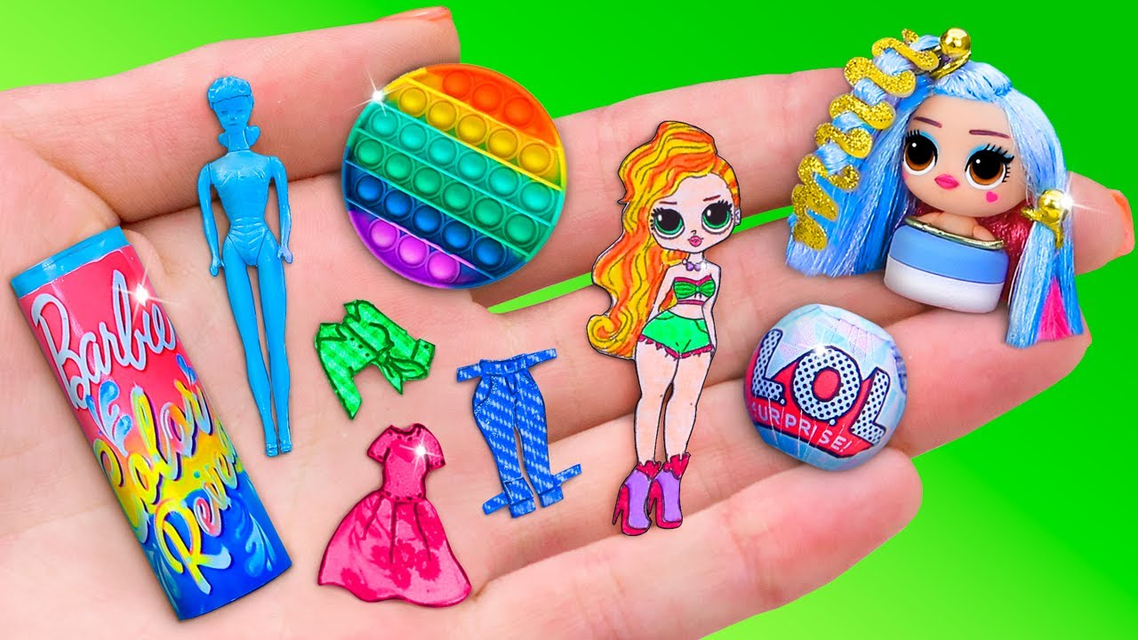 11 Muñecas en Miniatura para LOL OMG