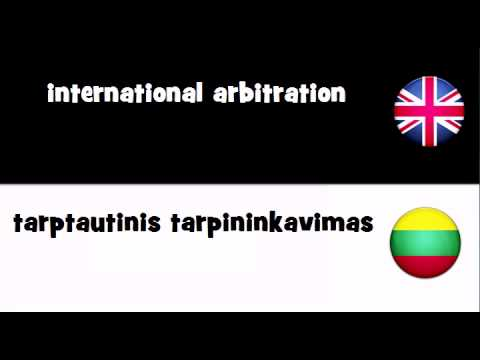 TRANSLATE IN 20 LANGUAGES = international arbitration