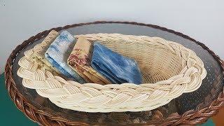 [라탄공예]  땋아마무르기바구니 Introduction to weaving a braid basket