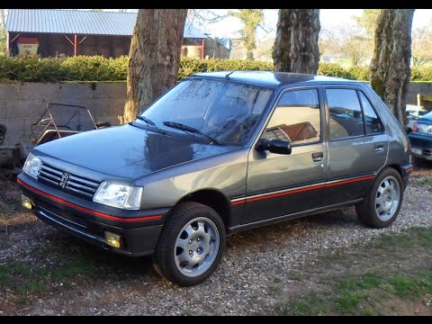 peugeot 205 d turbo restauration youtube. Black Bedroom Furniture Sets. Home Design Ideas