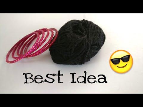 Bracelet With Old Bangles| DIY | Wool Craft | Best Out Of Waste | Woolen Bracelet