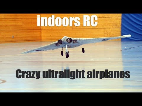 Crazy indoors ultralight RC airplanes and the new Eachine E58