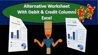 Alternative Adjusting Entries & Tax Worksheets With Debit & Credit Columns Excel