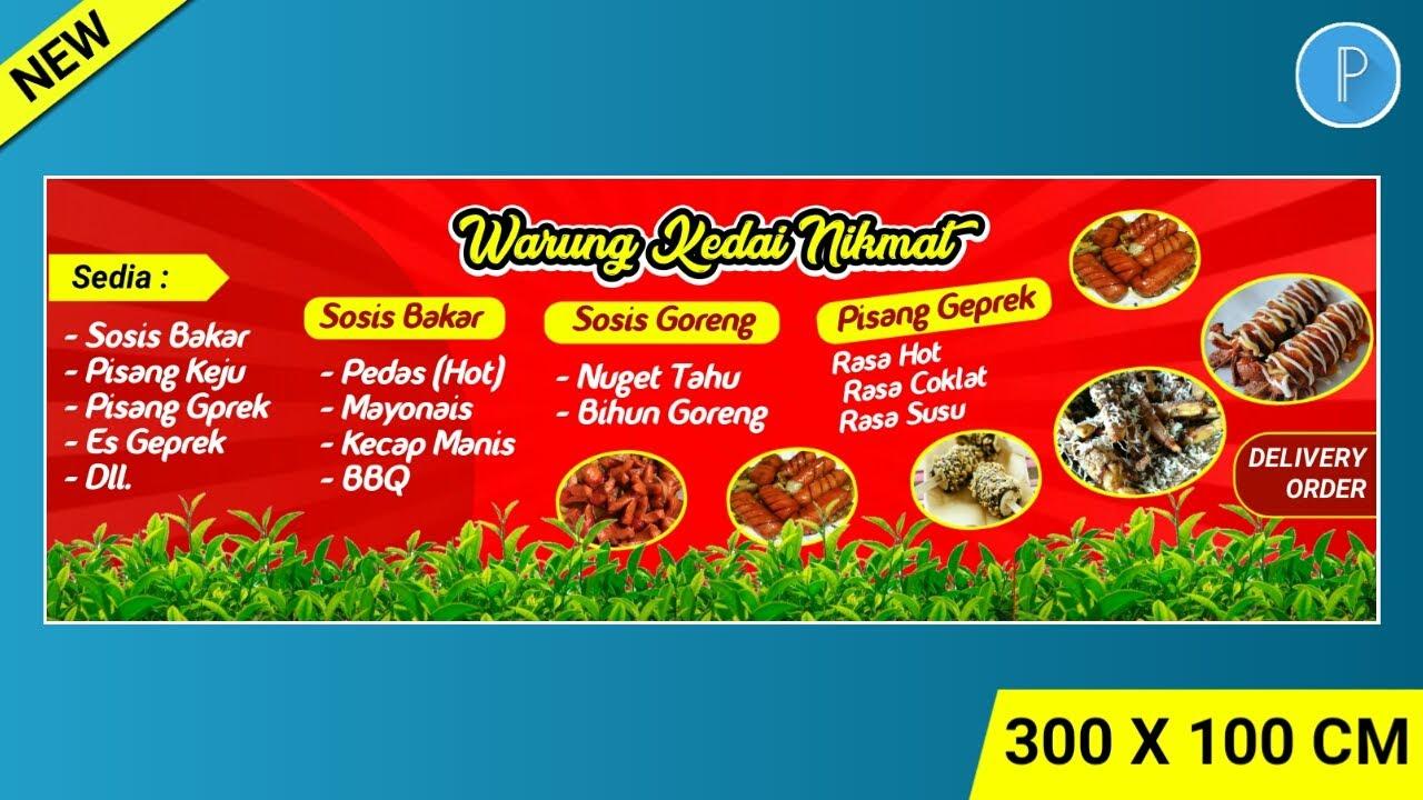 Desain Spanduk Warung Makan Di Hp Aplikasi Pixellab Part 3 Youtube