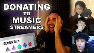 Donating to Random Music Streamers -- Live Reactions!!