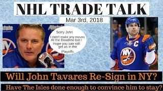 NHL Trade Talk - NY Islanders, Will Tavares Re Sign?