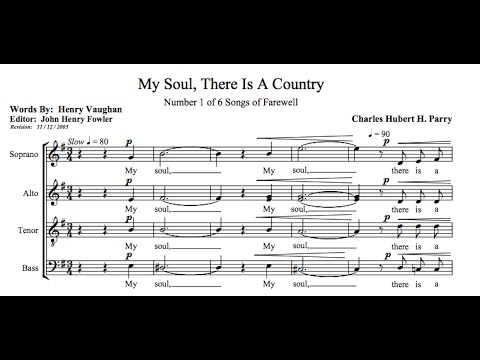 C.H.H. Parry - Songs of Farewell (w/score)