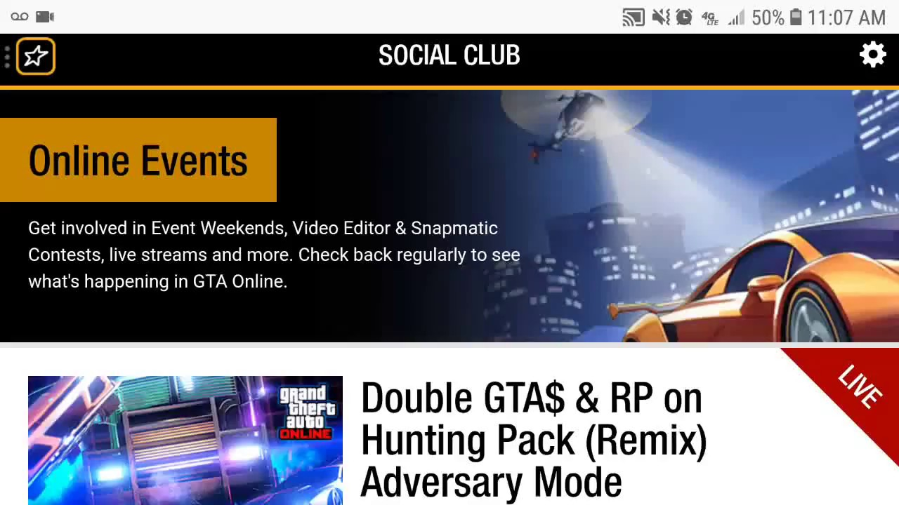 Rockstar Social Club GTA V Online Event - Double GTA