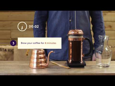 Make great Cafetière coffee at home