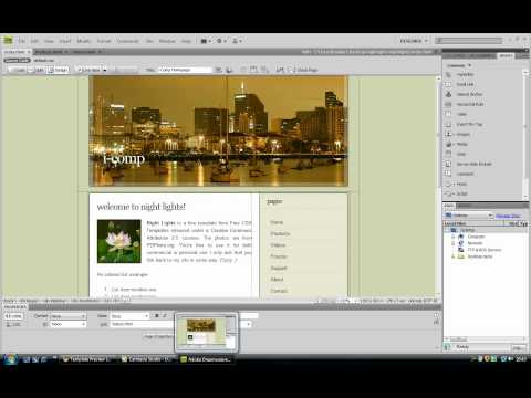 How To Build A Simple Site In Dreamweaver Part 1 [HD].mov