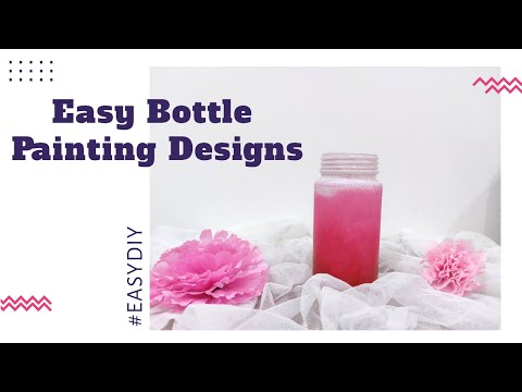 bottle-painting-art-designs-|-easy-bottle-painting-ideas-for-beginners