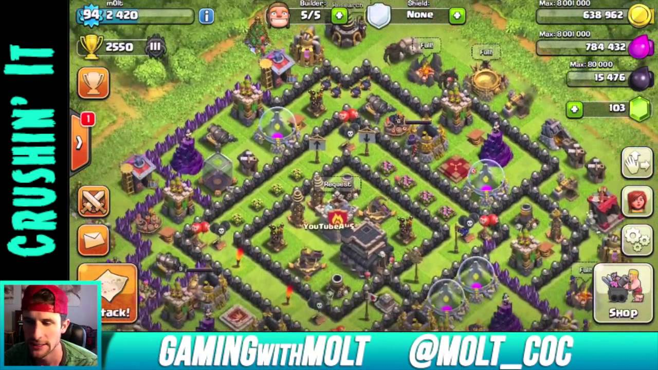 Clash of clans clan wars update th9 base youtube