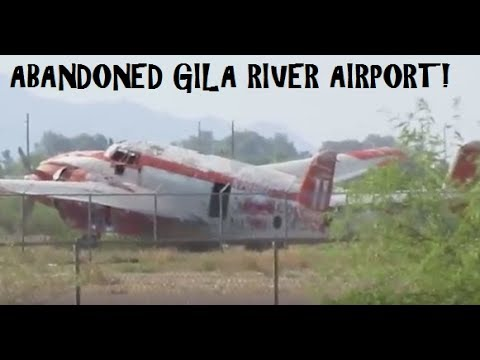 Abandoned!!! Chandler/Gila River Airport!! The police show up!!!