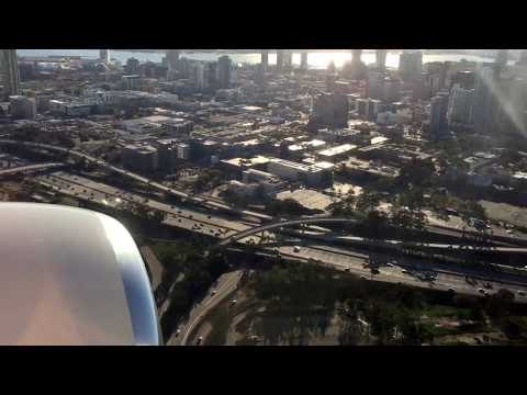 Why San Diego airport stresses pilots / no ILS landing, terrain...
