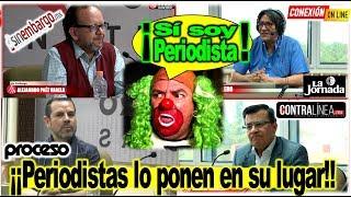 Despelucan a Brozo. Ni Astillero pudo defenderlo de analistas, ¡Payaso!