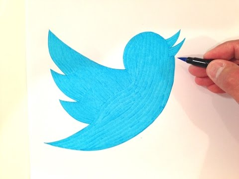 How to Draw the Twitter Logo Freehand