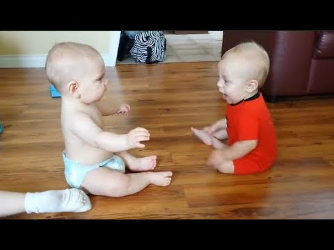 Cute TWIN BABIES Talking to each other- Funny Twin Babies Talking to Each Other Compilation 2019