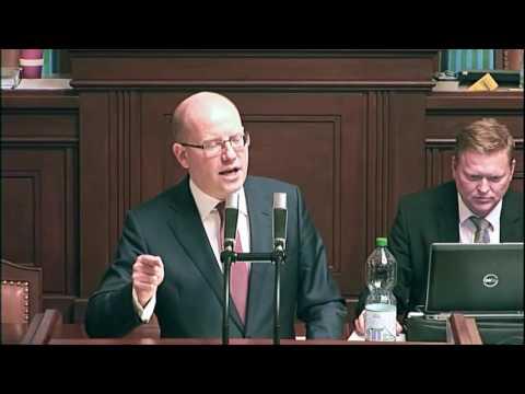 Premiér Bohuslav Sobotka - Poslanecká sněmovna  7. 12. 2016
