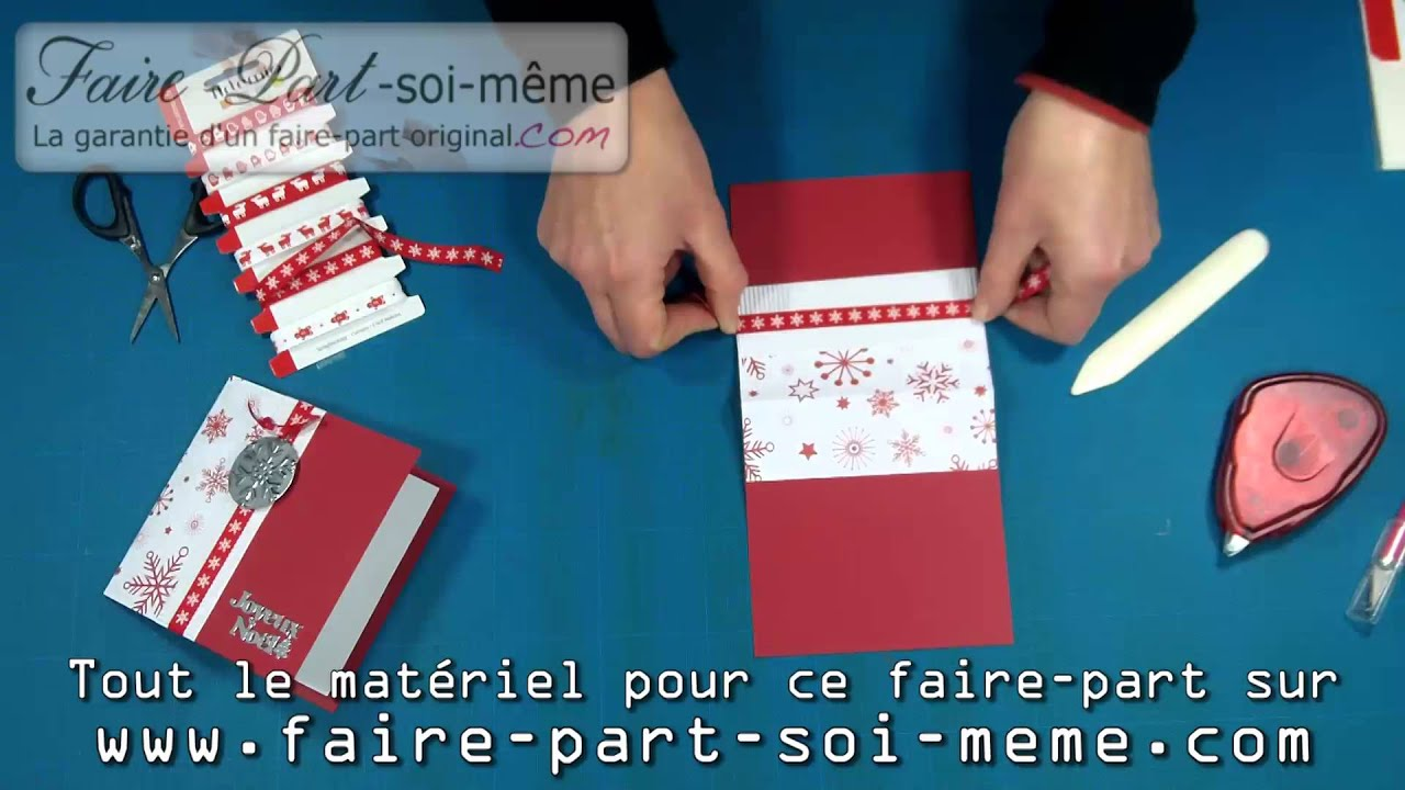 Carte de no l flocon du p re no l youtube - Rond de serviette noel a faire soi meme ...